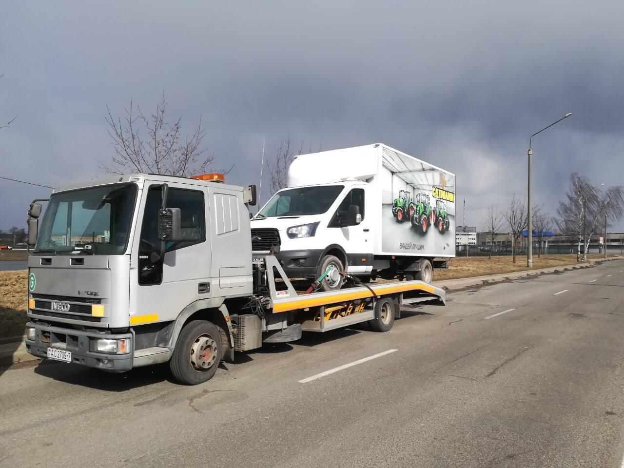 Эвакуация грузового фургона