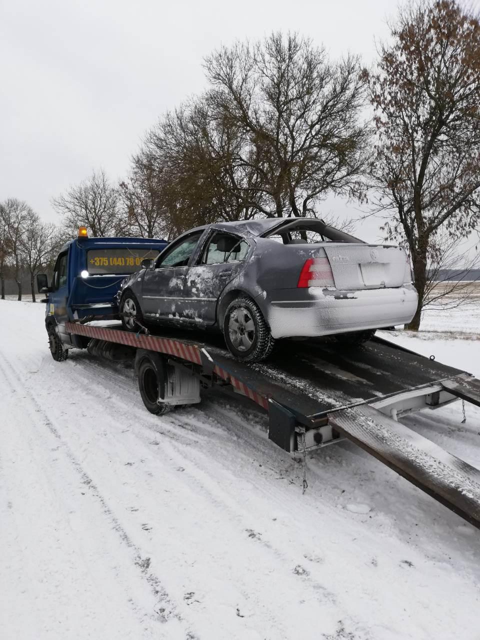 Эвакуатор для легкового авто после ДТП