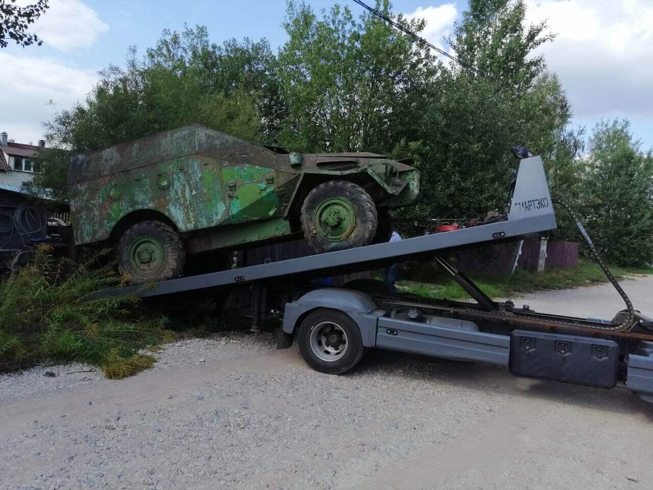 Эвакуация военной техники в Минске