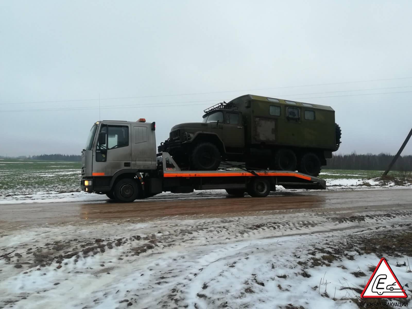 Перевозка грузовика ЗИЛ 131 в Минске